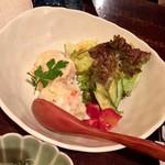 大分の鳥料理とお酒 如水 - 自家製ポテトサラダ