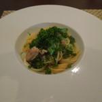 グリーチネ - 秋刀魚と地葱のスパゲッティ