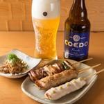 焼鳥 嘉とう - 串焼とコエドビール