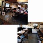 ユニオン - 店内は、カウンター10席、四人テーブル3卓、小上がり四人テーブル2卓。