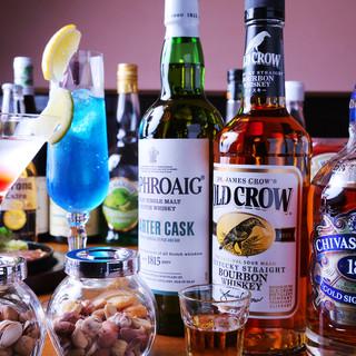 カクテル、ビール、ウィスキー…、豊富なドリンクに自信あり!