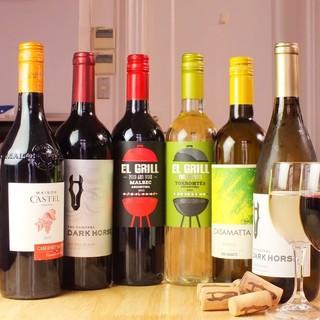 種類豊富なワインをご用意♪