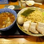 胡座 - 味玉チャーシューつけ麺が大盛