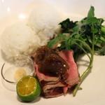 はなこども - 料理写真:ローストビーフと新米のプレート