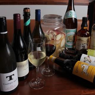 30種類のワインと酒場ならではのドリンクたち
