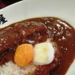 日乃屋カレー - 料理写真:とんかつ半分+温玉半分