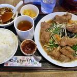 kei楽 - 料理写真:「レバニラ炒め定食(山形庄内産豚レバー)」(1080円)
