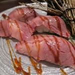 焼肉トラジ - サーロイン寿司