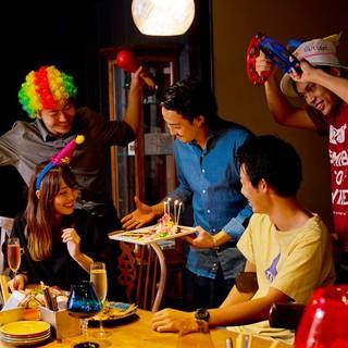 バースデープレート☆彡堺一のサプライズで盛り上げます!