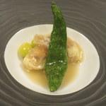 懐石フランス料理 グルマン橘 - 舞鶴のお魚と松茸の湯葉包み酒蒸し