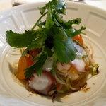 ラカント - ボイル蛸と緑豆春雨と三つ葉のサラダ・赤紫蘇ドレッシング