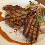 Bistro&Cafe 徒然 - 本日のプレートランチB 生姜とアジアンスパイスでマリネした豚ロースグリル ロメスコソース