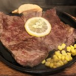 たまやん - 料理写真:ワイルドステーキ約300g1000円(ご飯とお味噌汁のセットは+100円)