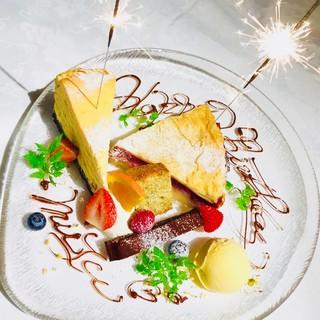 誕生日・記念日のデザートプレート♪