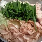 博多もつ鍋やまや - 野菜が沢山食べられて嬉しい