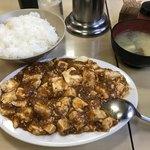 75454144 - 本日のサービス品の「麻婆豆腐」定食