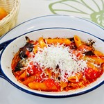 75454858 - オーヴン焼きパスタ ペンネ                       ナスのトマトソース リコッタサラータチーズ