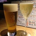 おかととき - 生ビールとローマスプマンテ