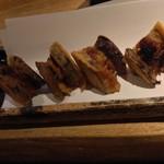 おかととき - 加茂茄子と秋刀魚のはさみ揚げ