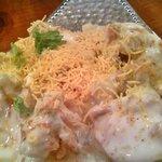 ゴヴィンダス - ダヒ プーリ チャナ チャット(ヨーグルトがけスナックの入ったチャナ豆の前菜料理)