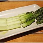 肉小屋 - アスパラ。野菜もうめぇの。