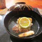 75464098 - お椀 銀杏豆腐 甘鯛 松茸 からすみ 酢立