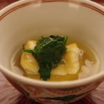 日本料理 晴山 - 煮もの:じゃが芋饅頭と穴子
