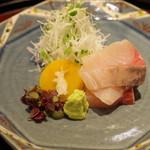 日本料理 太月 - お造り:カンパチ