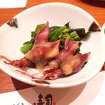にぎわい寿司 - ホタルイカ酢味噌和え