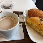 デリフランス - カフェオレ、カレーパン、スイートポテトパン