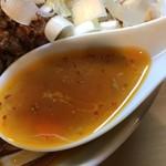 豚星。 - 【2017.10.20】ベースの豚骨スープにラー油の辛味。