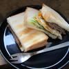 アサカフェ - 料理写真:ハンバーグと玉子のサンドイッチ:700円