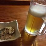 とみたや - 料理写真:生ビールとお通し