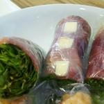 東京はるまき - 生ハムとチーズの生春巻(370円)