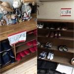 75477787 - 左:スリッパ/右:靴置き場