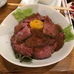 やぎばる Clover - ローストビーフ丼特盛りご飯まし1320円