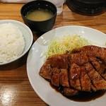 大阪トンテキ - トンテキ定食