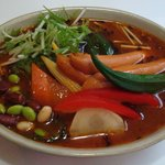 Buzz curry  札幌本店 花車 - チョリソービーンズと野菜のカリー  ¥950-「辛さに強い方に、特にお勧めのカリーです」