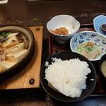 みろく庵 - 肉どうふ定食900円