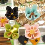 ニキニキ - 生八ッ橋で、4輪の花が咲きました♪