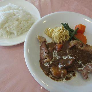 味のレストラン えびすや - 料理写真:日替わりランチ[豚ロースのソテー、ライス](2017/10/26撮影)