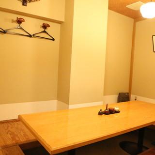 プライベートな個室空間