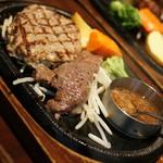 スエヒロ館 - 国産牛100%ハンバーグ&ランプカットステーキ・得々セット(2,080円+税)2017年10月