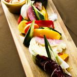 様々な旬野菜のディップ 銀座収穫祭 自家製メレンゲマヨソース
