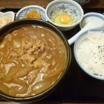 麺処 おおぎ - '17/10/28 カレーうどん(税込720円)定食セット(税込100円)