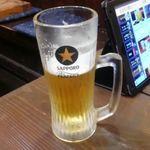 焼鳥酒場 リンダリンダ - ビールはサッポロ