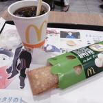 マクドナルド - アイス珈琲とアップルパイ