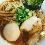 神戸肉そば 灘八 - 味玉アゴ出汁ラーメン(780円)