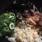 神戸肉そば 灘八 - 夏季限定冷やしぼっかけまぜそば