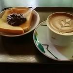ぼうず'n coffee - あんバタートースト、カフェラテ